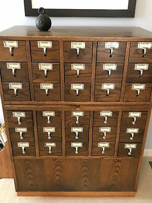 30 Drawer Library Card Catalog Perfect For Baseball Cards PICK UP ONLY