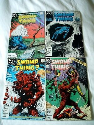 Swamp Thing Comics Dc X 4 Lot Issues 55-58.alan Moore.
