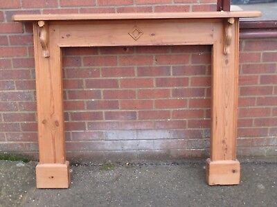 George III antique style solid carved pine fireplace mantelpiece fire surround