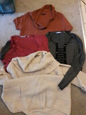 New Look Maternity Clothes Bundle of Jumpers/Tops size 18