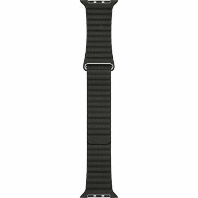 Apple Mqv82Am/a 42Mm (Large) Charcoal Gray Leather Leather Loop Watch Band