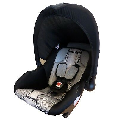 TT Nania Baby Ride Infant Carrier Baby Group 0+ Car Seat Carseat 0-9m Pop Black