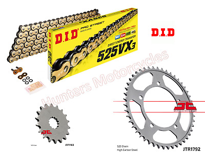 Triumph 865 Bonneville DID Heavy Duty Gold X-Ring Chain & JT Sprockets Kit Set