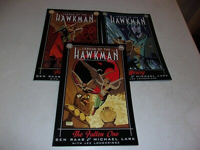 Legend of the Hawkman # 1-3--Ben Raab,Michael Lark--200 DC--NM Condition