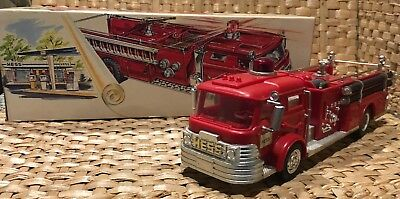 Great 1970 Hess Toy Fire Engine Truck in Original Box Great Shape Works