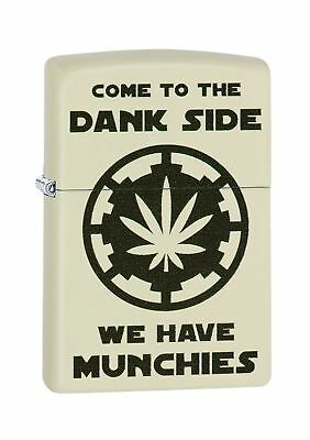 Zippo Come to the dank side ,cream matte windproof lighter .