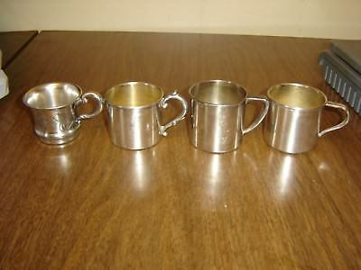 Silverplate Cup Lot of 4 Various Makers