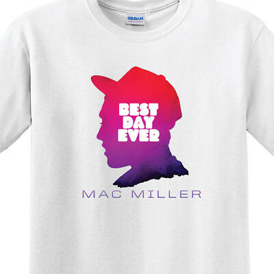 Mac Miller - Best Day Ever | Men's White T-Shirt | Small-3XL