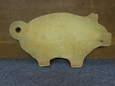 Antique/vintage Wood Pig Cutting Board/red Edges