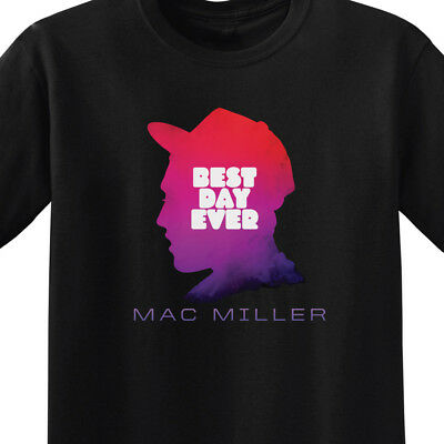 Mac Miller - Best Day Ever | Men's Black T-Shirt | Small-3XL