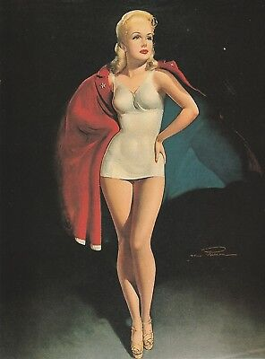 BETTY GRABLE, WWII Pin-Up Queen by MacPherson 9 x 12 inches