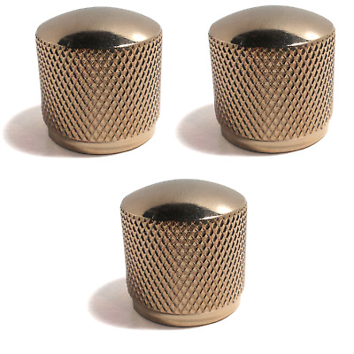 3pc Gold Dome Guitar Knobs for Bass//Electric Guitar Volume Tone Controls Metal