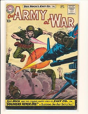 Our Army At War # 98 Good+ Cond. water damage