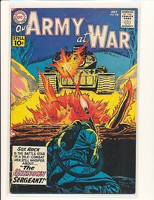 Our Army At War # 108 Fair/Good Cond. cover detached from bottom staple