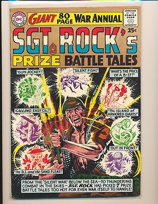 Sgt. Rock's Prize Battle Tales # 1 - Kubert cover VG Cond.