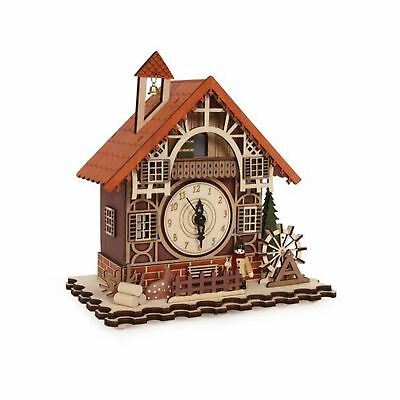 Timber framed Swiss Style House Clock incorporating music box (can cuckoo e... .