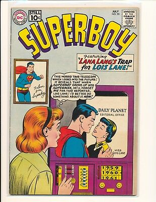 Superboy # 90 - 1st Pete Ross learns Superboy's I.D. Fine Cond.