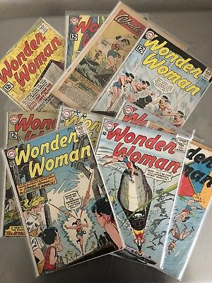 WONDER WOMAN (1942) comic book (LOT OF 10) ranging from # 127- 140   Make Offer!