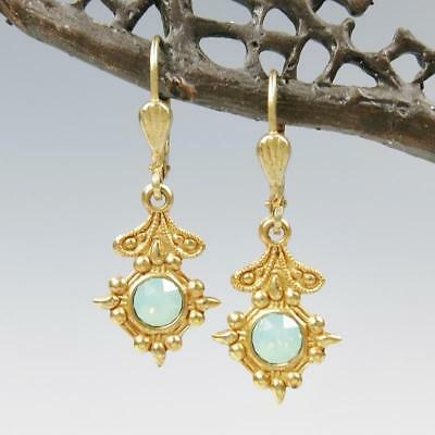 La Vie Parisienne Catherine Popesco Old World Small Drop Earrings Pacific Opal