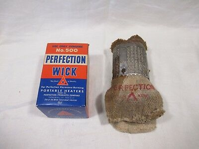 Vintage  Perfection Kerosene heater Wick No.500 Genuine w/ instructions on box