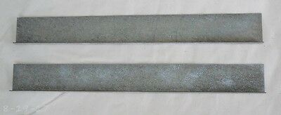 """Pair Antique Reproduction Stacking Barrister Bookcase Door Track 8-15/16"""""""
