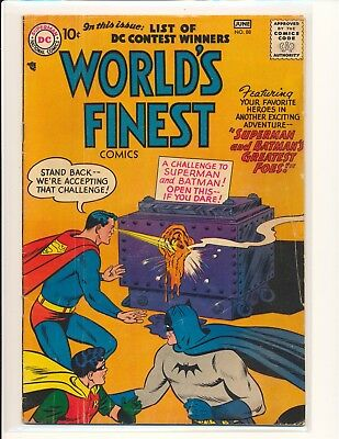 World's Finest Comics # 88 - 1st Joker/Luthor team-up G/VG Cond.
