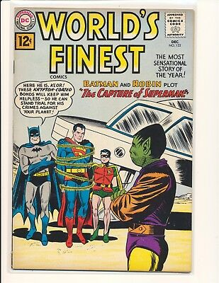 "World's Finest Comics # 122 VG+ Cond. 1/2"" spine split"