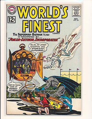 World's Finest Comics # 129 - Joker/Luthor team-up cover & story Fine Cond.