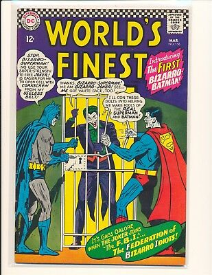 World's Finest Comics # 156 - 1st Bizarro Batman VG+ Cond. subscription crease