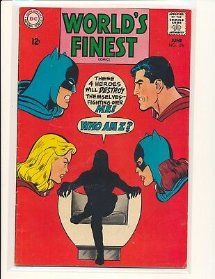 World's Finest Comics # 176 - Neal Adams cover & art VG Cond top staple detached