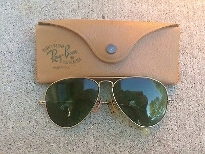 VINTAGE Sunglasses RAY BAN AVIATOR 1/10 Gold Filled ESTATE