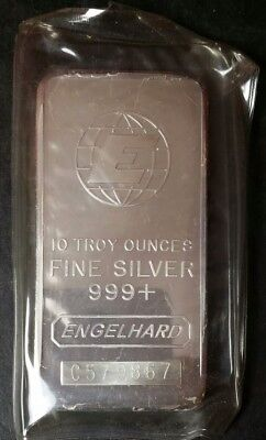 10 oz Engelhard Silver Bar *No Reserve*