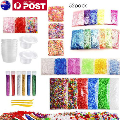52 Pack Slime Supplies Kit Slime Beads Charms Slime Tool For DIY Slime Making AU