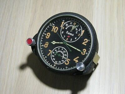 Borduhr AChH (AChS-1) clone Jaeger LeCoultre Cockpit Clock Air Force