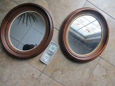 MATCHED PAIR of LARGE Classic 1840 Victorian Antique Oval Walnut Picture Frames