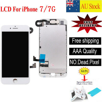 For iPhone 7 4.7'' LCD Screen Touch Digitizer Display Camera Replacement White