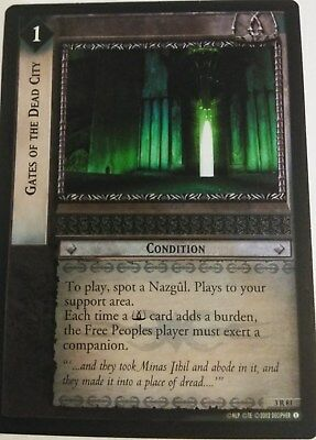 Lord Of The Rings CCG Foil Card RotEL 3R81 Gates Of The Dead City