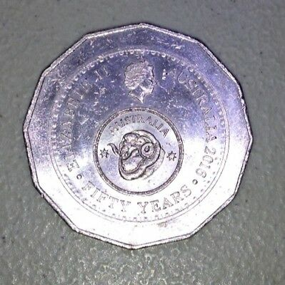 2016 Australian 50 Cent Coin - Australia Fifty 50 Years Of Decimal Currency