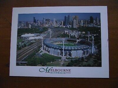 Retro Vintage Postcard: View over Melbourne Cricket Ground & Tennis Centre #2