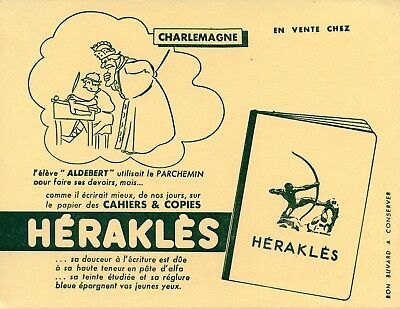Buvard Publicitaire /// Cahiers Et Copies Herakles /// Charlemagne