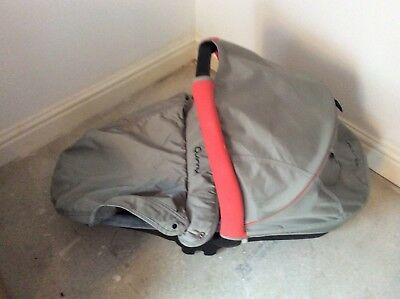 Quinny Baby Grey/Red Carrycot  & Handle, Cover, Hood and Attachment Accessories