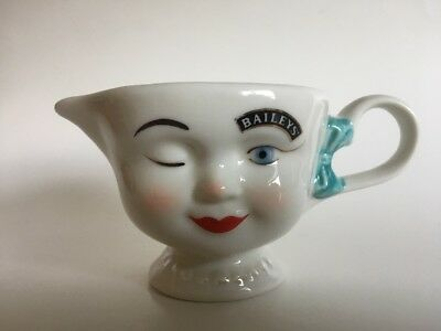 BAILEYS Irish Cream 1996 LIMITED EDITION Coffee Creamer Cup Winking Eye Girl