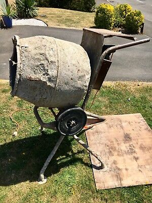 Cement Mixer 240 Volt Electric Model Stand And Pivot Base