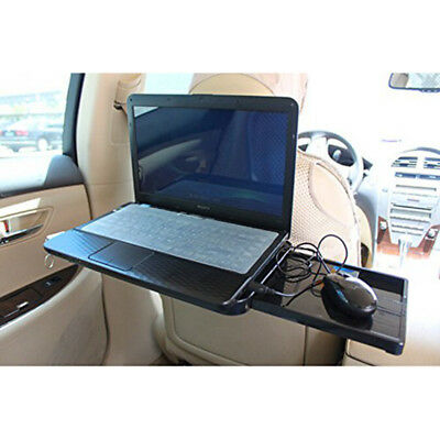 Black Car Foldable Table Steering Wheel Seat Stand Holder Laptop Food Drink Cup