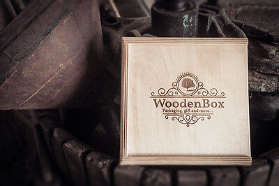 Wooden Box: scatola in legno per packaging con pendrive usb 3.0 e incisione logo