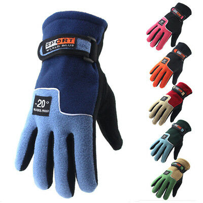 Winter Thermal Warm Full Finger Gloves Men Women Hiking Walking Jogging Running
