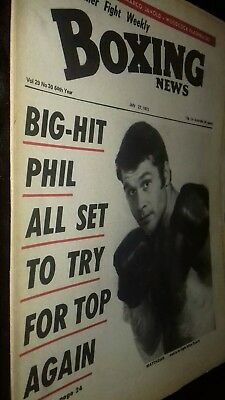 July 27Th1973Boxing News Phil Matthews/Woodcock V Savold Feature/Johnny Famechon
