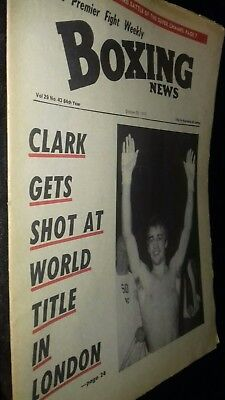 Oct 26Th 1973  Boxing News Johnny Clark/John Conteh -Baby Boy Rolle
