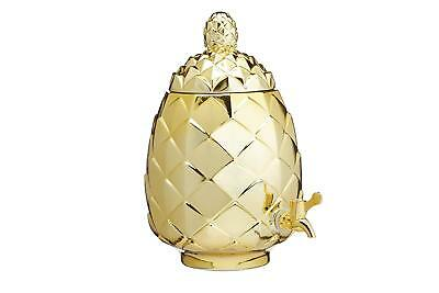 Kitchen Craft BarCraft Tropical Chic Glass Pineapple Drinks Dispenser, 6 Litres