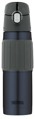 Thermos Vacuum Insulated 18 Ounce Stainless Steel Hydration Bottle, Midnight Blu